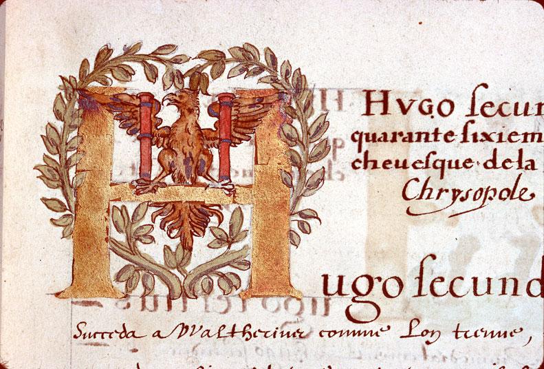 Catalogue et vie des évêques et archevêques de Besançon - Aigle aux ailes déployées_0