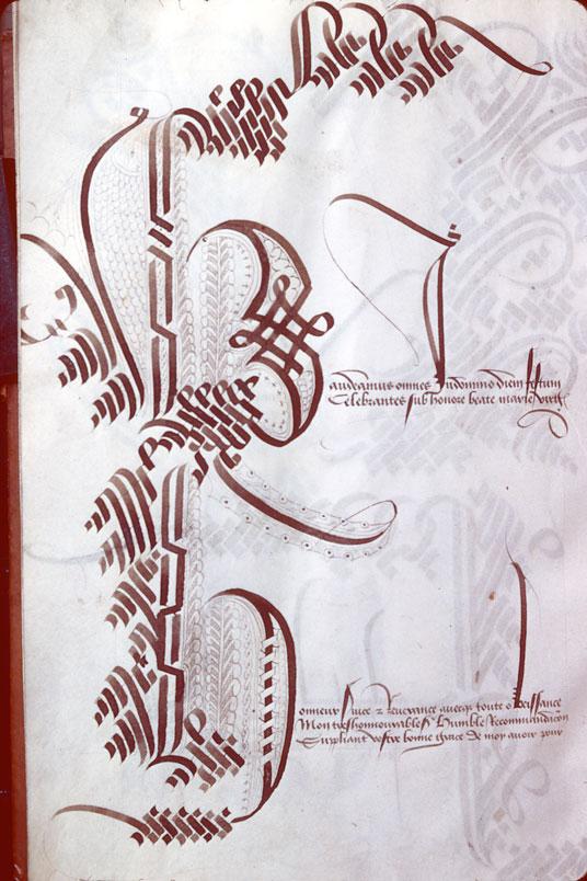 Alphabet calligraphié - Initiales cadelées_0