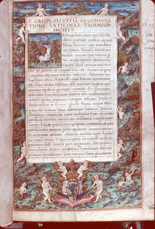 Conjuratione Catilinae (De) - Page décorée, avec armes (à identifier)_0