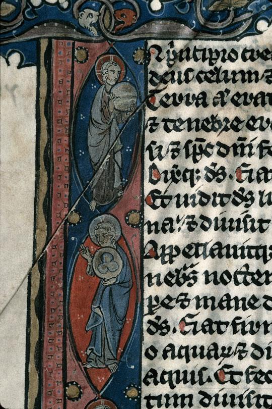 Bible - Création en sept tableaux et Christ en croix entre Marie et Jean_0