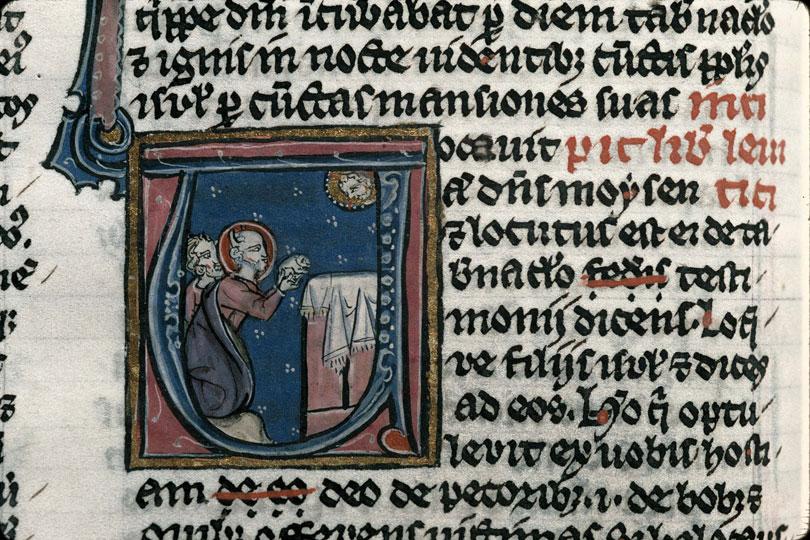 Bible - Moïse offrant un agneau_0
