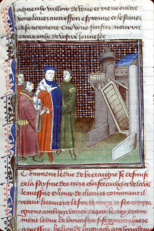 Chroniques - Jean IV, duc de Bretagne, et ses conseillers_0