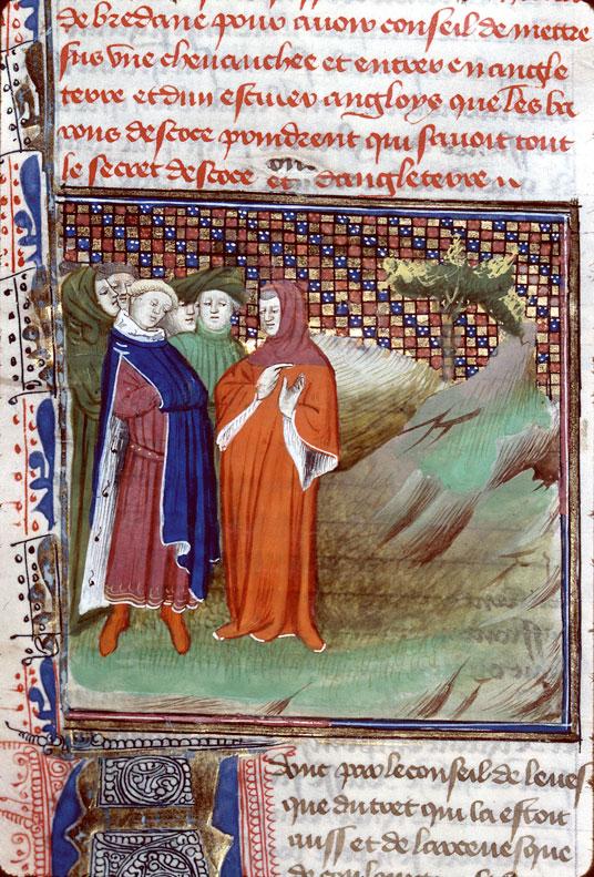 Chroniques - Jean de Berry écoutant la relation de son envoyé Hélion de Lignac_0