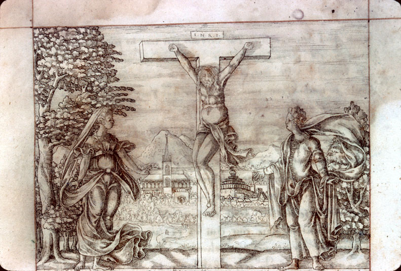 Matricula Universitatis Ingolstadiensis - Christ en croix entre Marie et Jean_0
