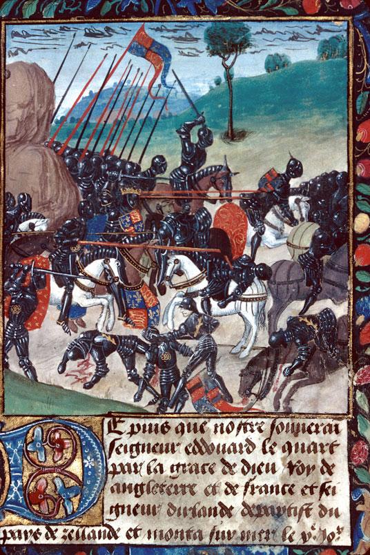 Nouvelles du recouvrement par Edouard IV de son royaume d'Angleterre - Bataille de Barnet_0