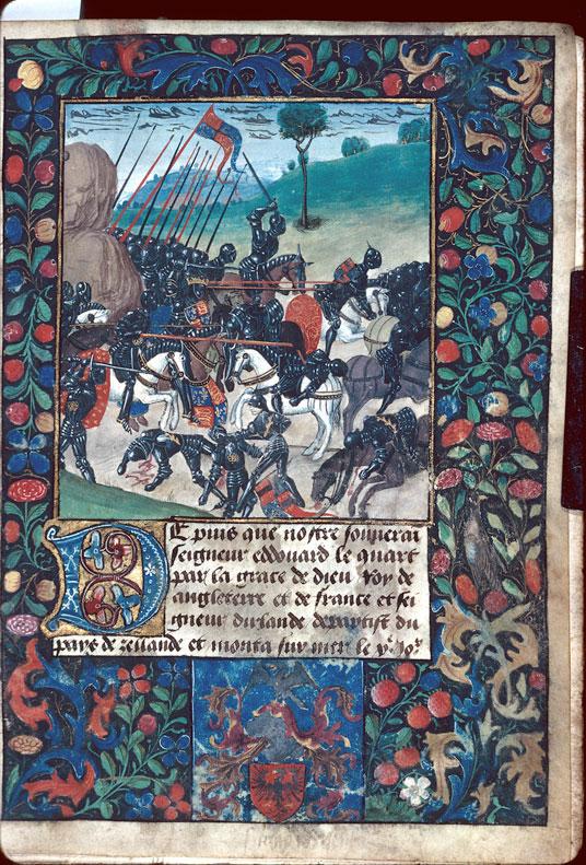 Nouvelles du recouvrement par Edouard IV de son royaume d'Angleterre