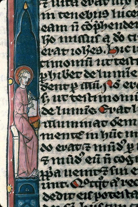 Bible - Saint Jean écrivant et son symbole_0