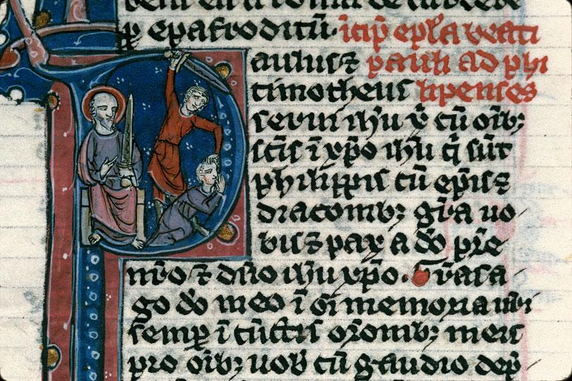 Bible - Saint Paul prédisant la destruction de l'ennemi de l'Eglise_0