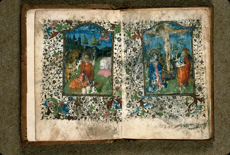 Heures ? - Christ en croix entre Marie et Jean_0