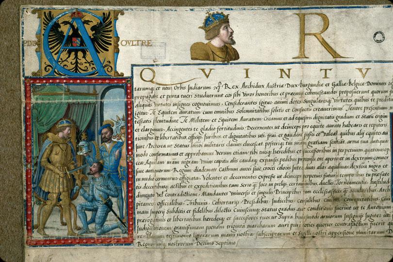 Lettres de noblesse décernées par Charles Quint - Armes et devise de Charles Quint_0