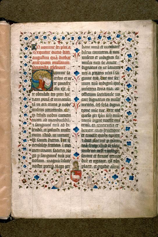 Missel à l'usage d'Aix-en-Provence - Agneau mystique présenté par saint Jean-Baptiste et chanoines_0