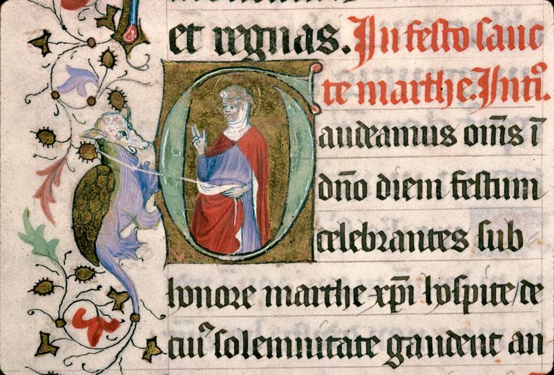 Missel à l'usage d'Aix-en-Provence - Sainte Marthe domptant la Tarasque_0