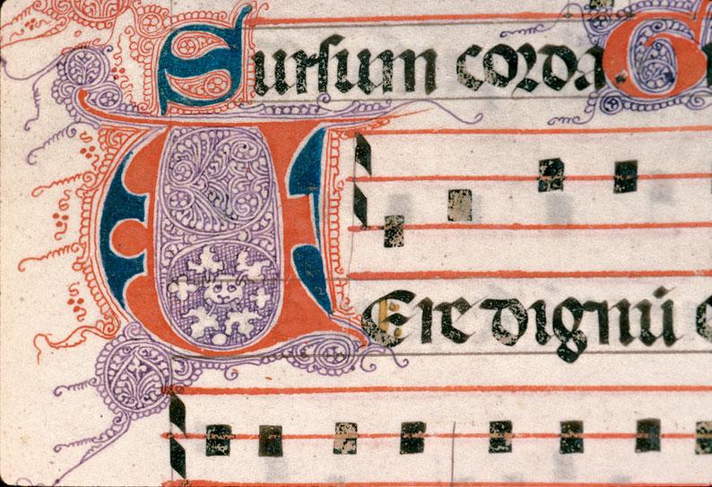Pontifical de Guillaume Durand - Initiale filigranée_0