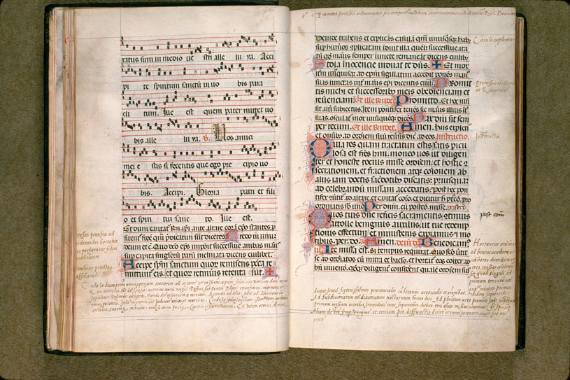 Pontifical de Guillaume Durand - Initiales filigranées_0