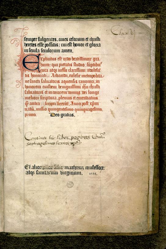 Gradus sacratissimae scalae - Initiale filigranée_0