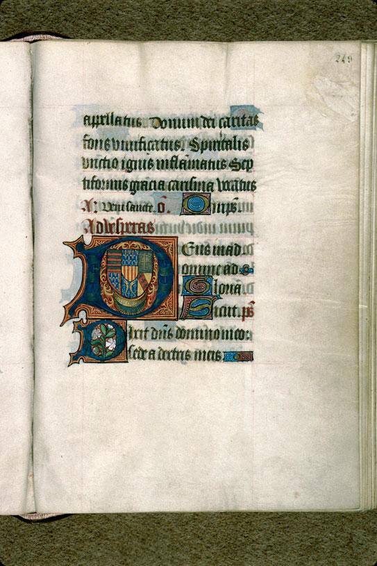 Heures - Armes de René d'Anjou, comte de Provence et roi de Sicile_0