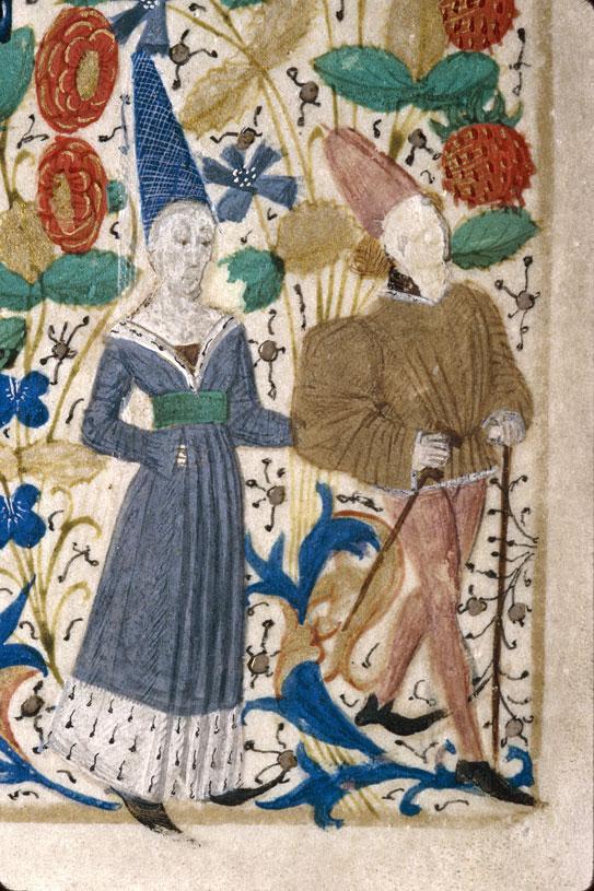 Heures à l'usage de Rouen - Couple se promenant_0