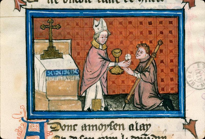 Pèlerinage de vie humaine/Pèlerinage de l'âme - Moïse donnant la communion au pèlerin_0