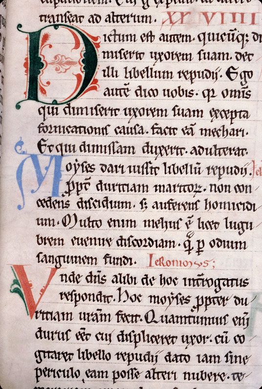 Concordia Evangelistarum (De) - Initiale filigranée_0