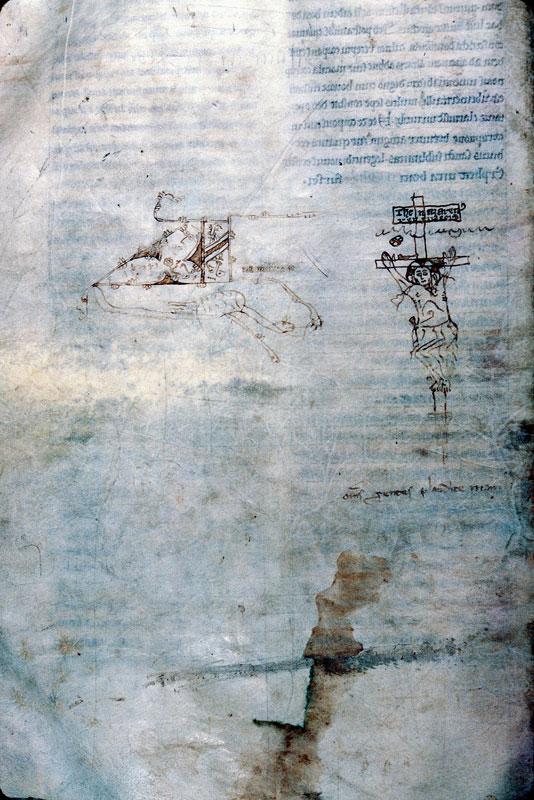 Légendier à l'usage de l'abbaye de Saint-Thierry près Reims - Christ en croix_0