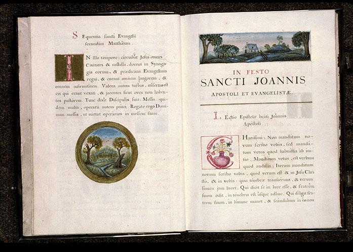 Lectionnaire de messe des religieuses de l'Hôpital Saint-Jean d'Angers - Paysage_0