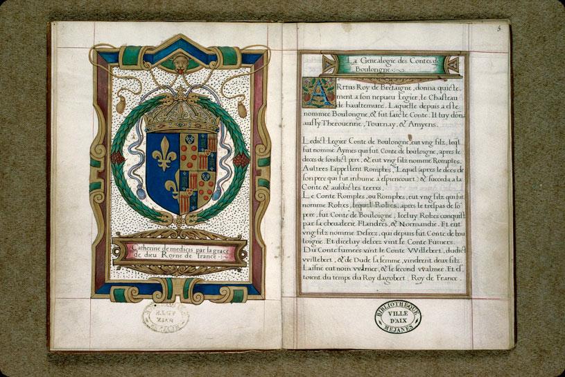 Généalogie des comtes de Boulogne - Armes de Catherine de Médicis_0