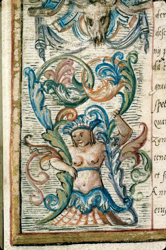 """Diplôme de docteur """"in utroque"""" pour Monet Boyer - Page décorée, avec armes de France_0"""