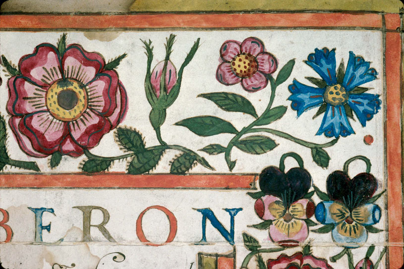 Diplôme universitaire - Page décorée, avec armes (à identifier)_0