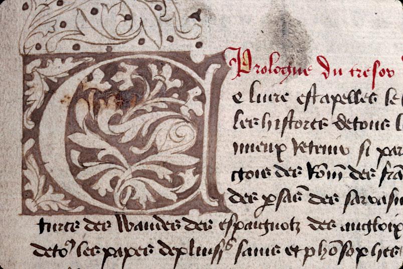 Chronique dite de Baudouin d'Avesnes - Initiale ornée_0