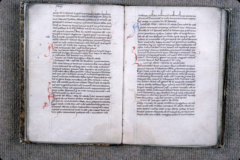 Cartulaire de l'abbaye Saint-Vaast d'Arras - Initiales de couleur ornées_0