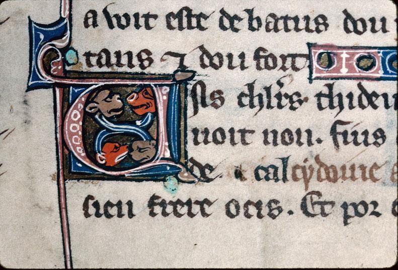 Chronique dite de Baudouin d'Avesnes - Têtes animales_0