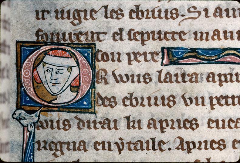 Chronique dite de Baudouin d'Avesnes - Tête de femme_0