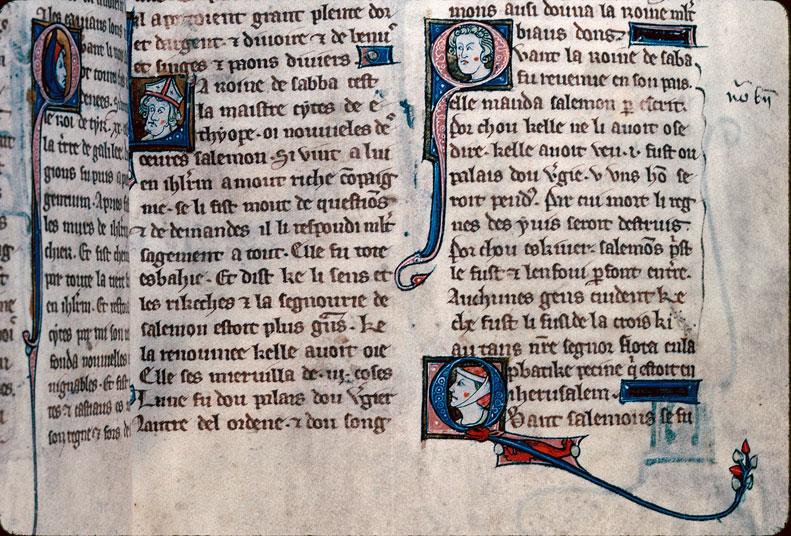 Chronique dite de Baudouin d'Avesnes - Tête d'évêque (à préciser)/Tête d'homme/Tête de femme_0
