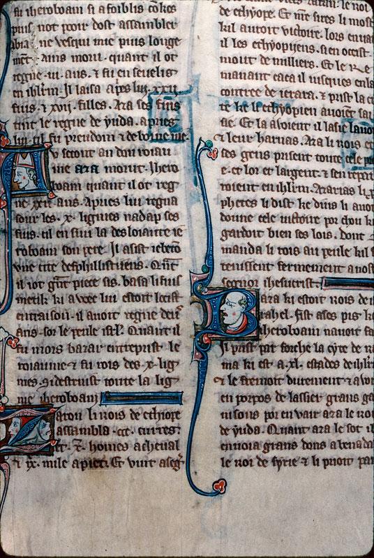 Chronique dite de Baudouin d'Avesnes - Tête d'évêque (à préciser)/Tête d'homme/Tête d'animal_0