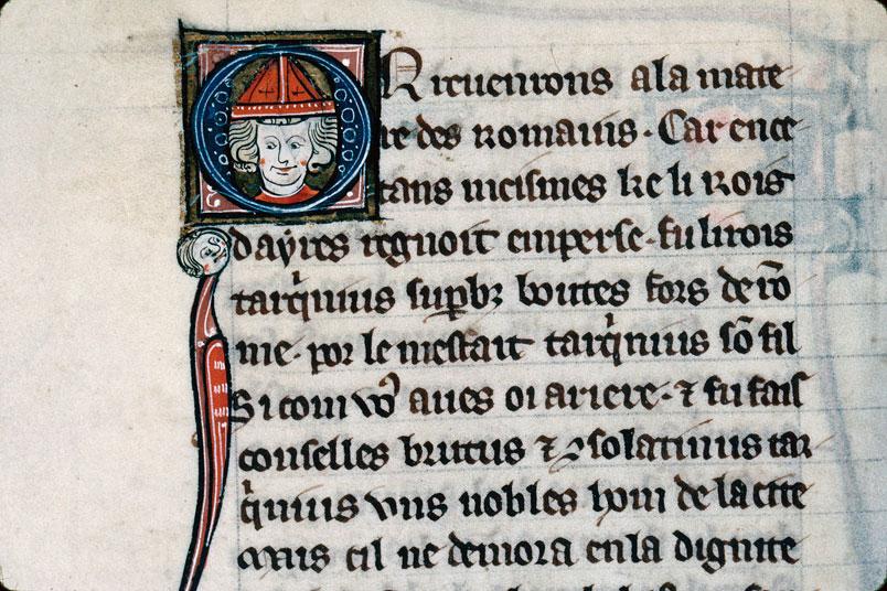 Chronique dite de Baudouin d'Avesnes - Tête d'évêque_0