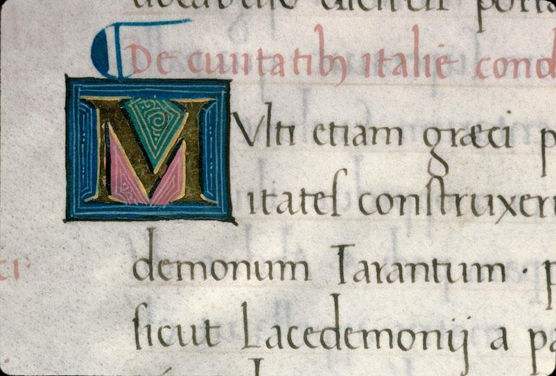 Origine urbium Italiae (De) - Initiale ornée_0