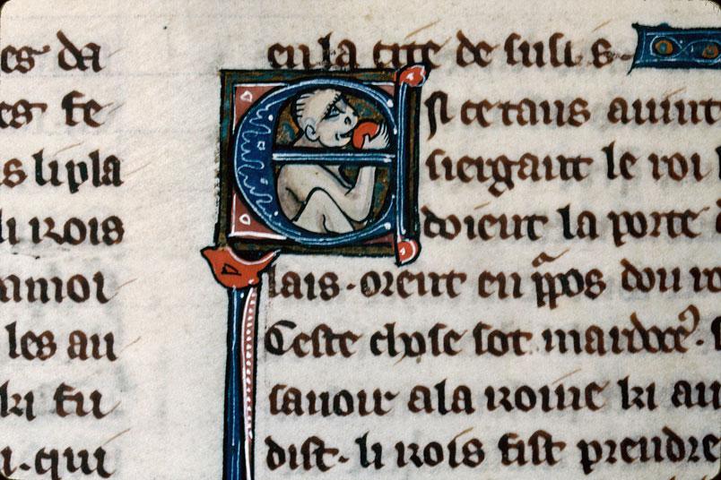 Chronique dite de Baudouin d'Avesnes - Singe tenant un fruit (à préciser)_0