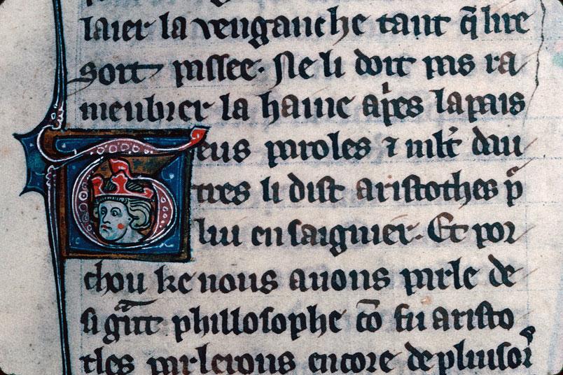 Chronique dite de Baudouin d'Avesnes - Tête couronnée_0