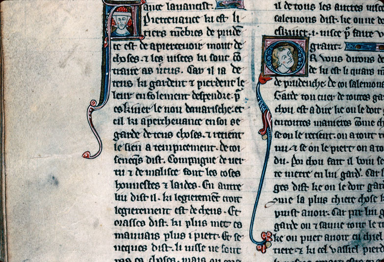 Chronique dite de Baudouin d'Avesnes - Tête de femme/Tête d'homme_0