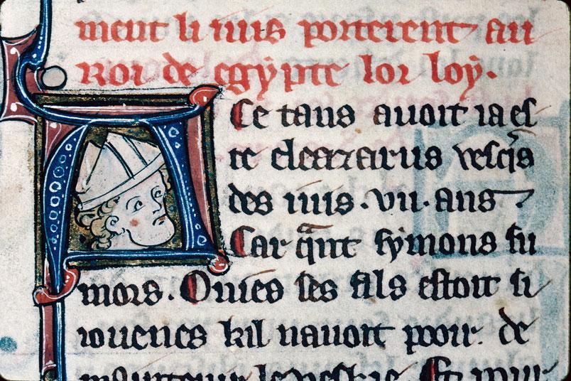 Chronique dite de Baudouin d'Avesnes - Tête d'évêque (à préciser)_0