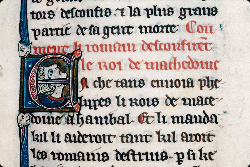 Chronique dite de Baudouin d'Avesnes - Tête d'homme_0