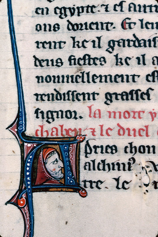 Chronique dite de Baudouin d'Avesnes - Tête d'homme barbu_0