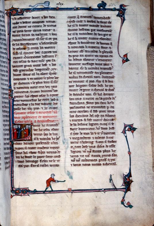 Chronique dite de Baudouin d'Avesnes - Chasse aux oiseaux_0