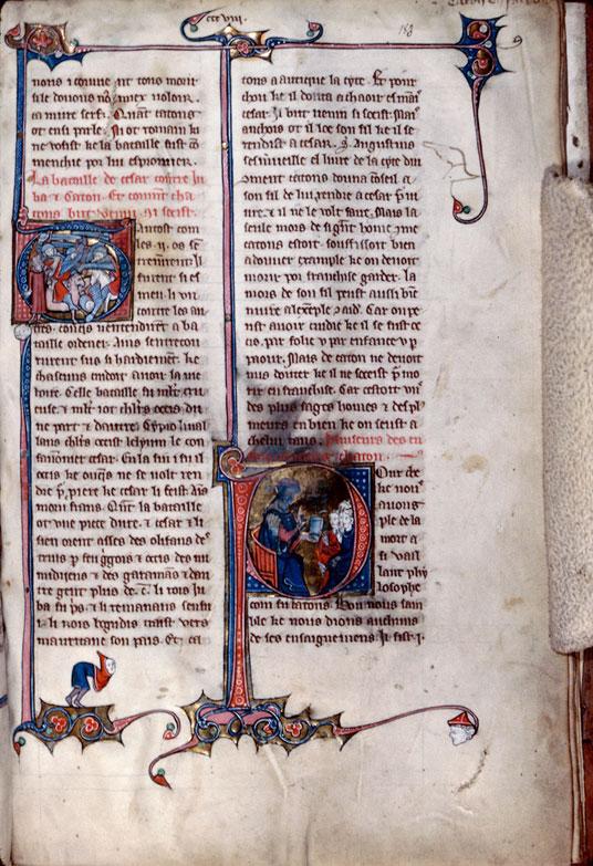 Chronique dite de Baudouin d'Avesnes - Bataille de Thapsus/Suicide de Caton d'Utique_0