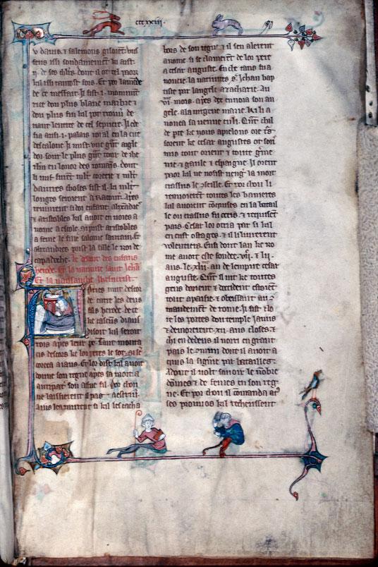 Chronique dite de Baudouin d'Avesnes - Cerf et lapin_0