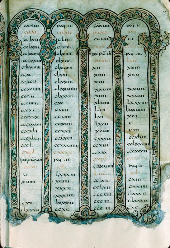 Evangiles à l'usage de l'abbaye Saint-Pierre de Flavigny - Page décorée_0