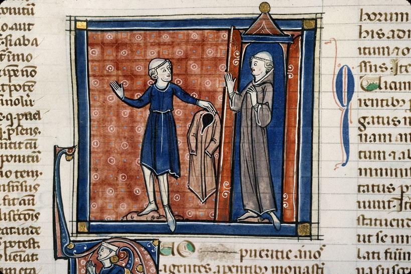 Decretum - Moine quittant la vie monastique, son frère restant au monastère_0