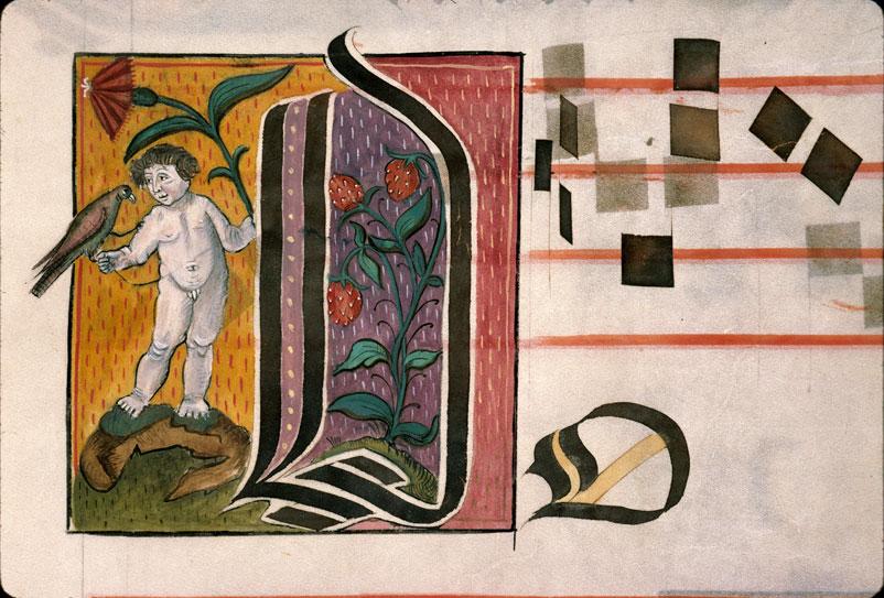 Graduel - Enfant nu, oiseau et fleur/Fraisier_0