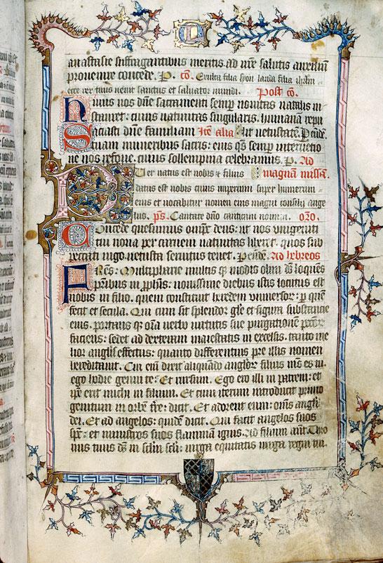 Missel à l'usage d'Autun - Page décorée, avec armes et chiffre d'Olivier de Marteuil_0