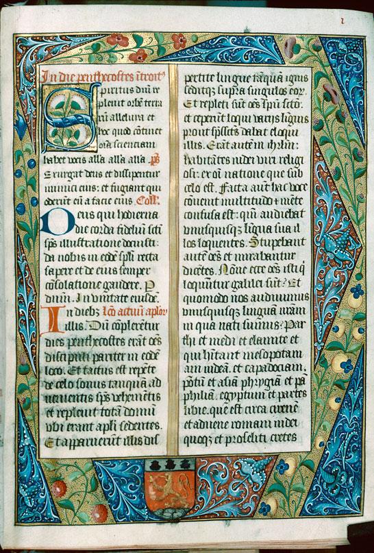 Missel à l'usage d'Autun - Page décorée, avec armes de Jean Petitjean_0